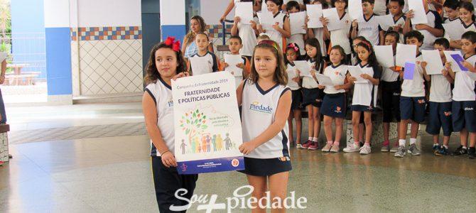 Fé, cidadania e política, Colégio Piedade faz lançamento da Campanha da Fraternidade 2019.