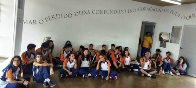 Projeto Entrelinhas leva estudantes a uma viagem pelo universo de Guimarães Rosa e Carlos Drummond de Andrade.