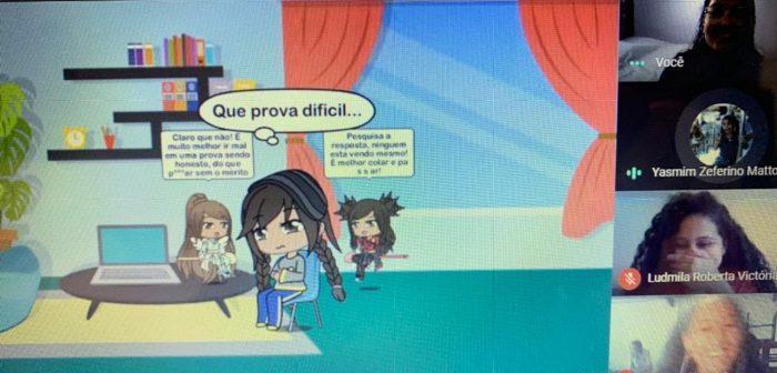 Estudantes criam histórias em quadrinhos para expressar reflexões sobre ética